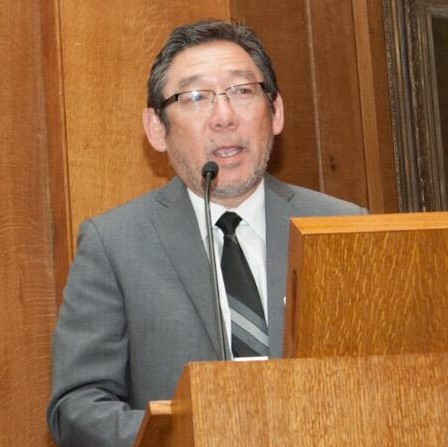 President and CEO, Ron Eguchi unveils inhance at Lloyd's, London